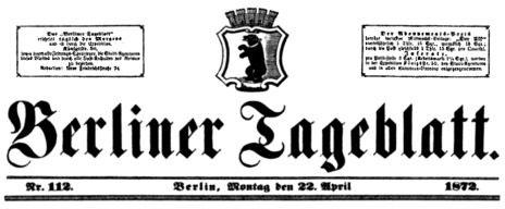 Berliner Tageblatt #